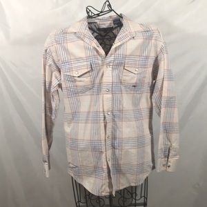 Roper pearl snap button up shirt